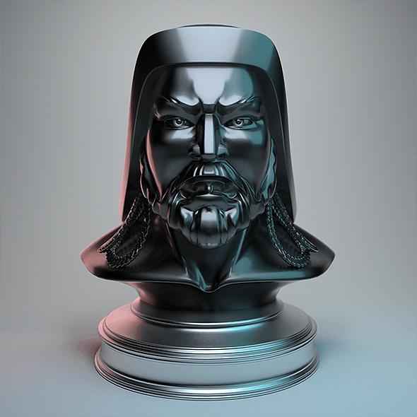 Genghis Khan - Head Bust - 3DOcean Item for Sale