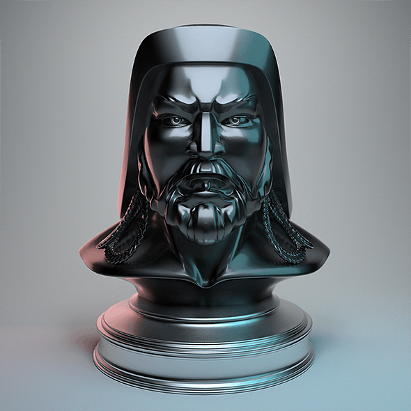 Genghis Khan - Head Bust