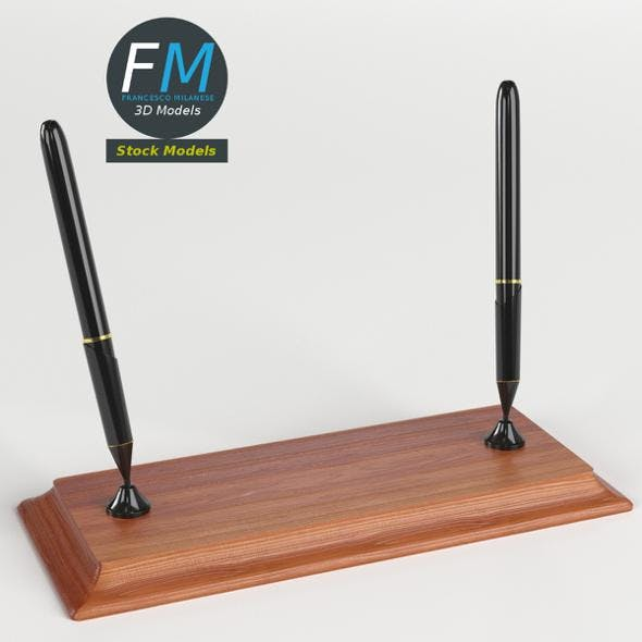 Double pen stand - 3DOcean Item for Sale