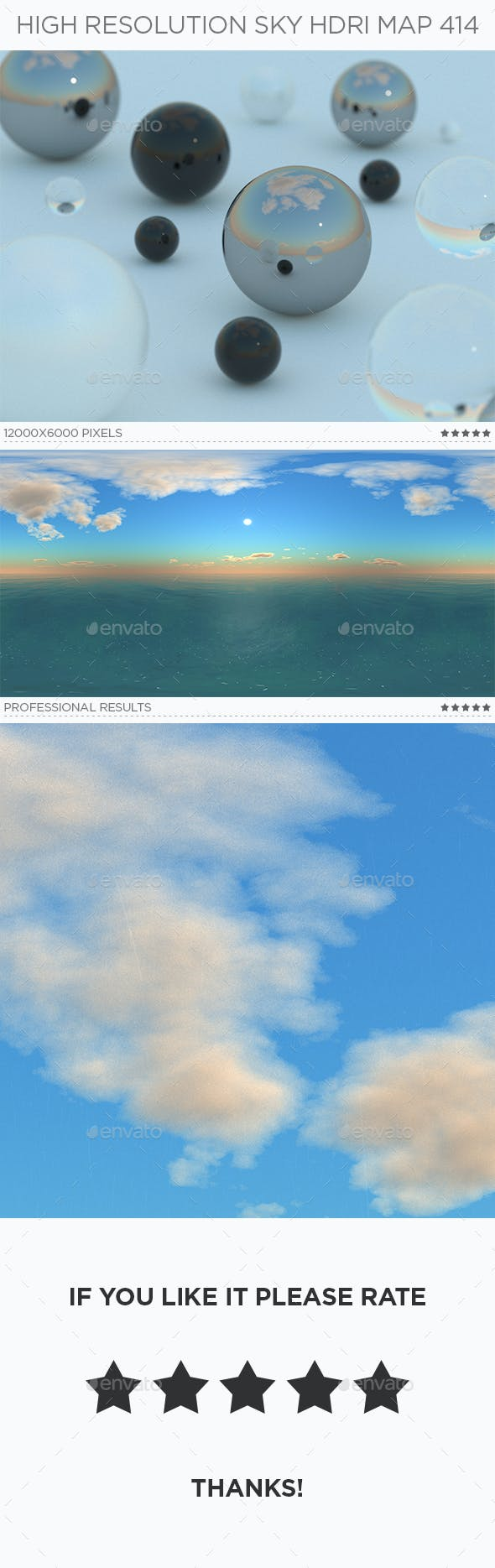 High Resolution Sky HDRi Map 414 - 3DOcean Item for Sale