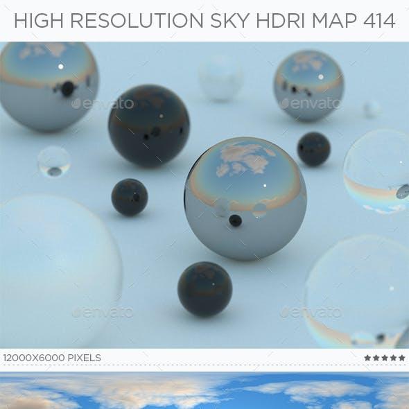 High Resolution Sky HDRi Map 414