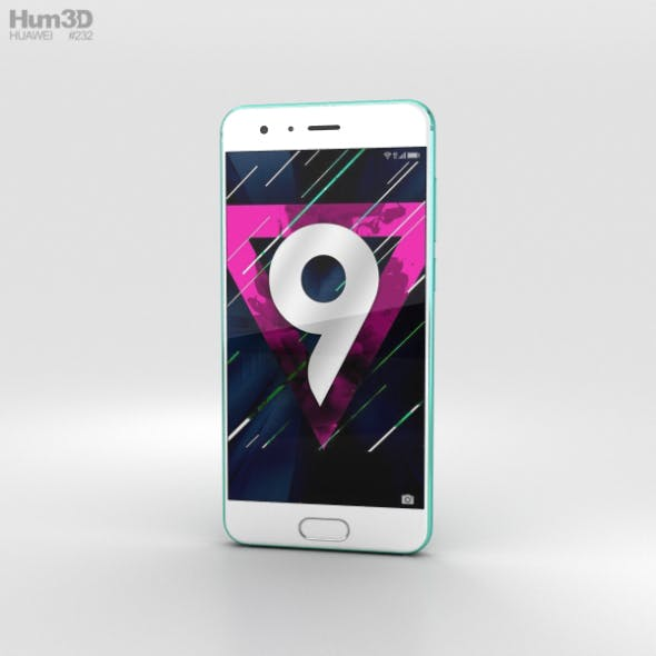 Huawei Honor 9 Blue Bird - 3DOcean Item for Sale