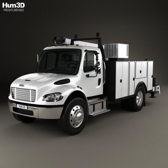 Freightliner M2 106 Utility Truck 2014 - 3DOcean Item for Sale