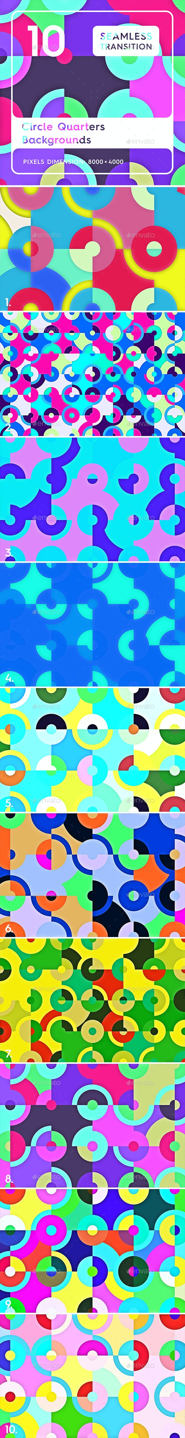 10 Circle Quarters Backgrounds - 3DOcean Item for Sale