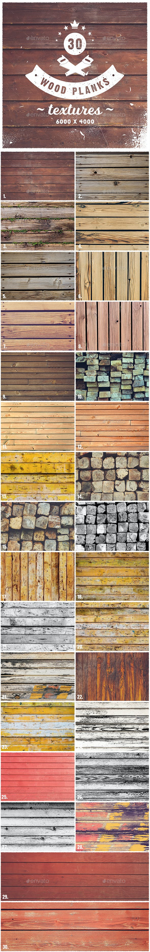 30 Wood Planks Textures - 3DOcean Item for Sale
