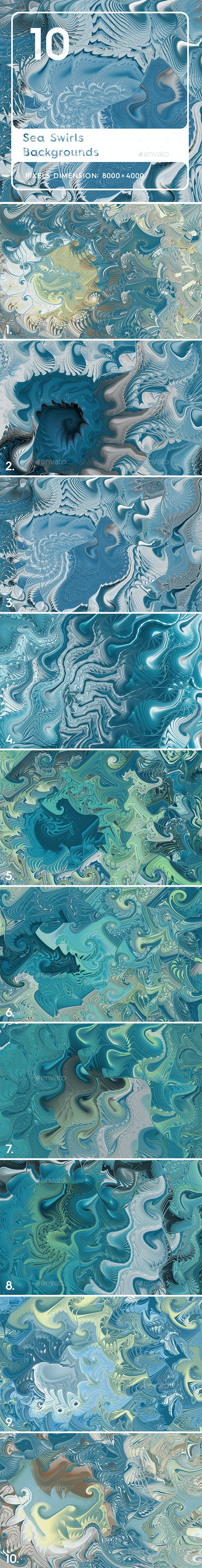 10 Sea Swirls Backgrounds Textures - 3DOcean Item for Sale