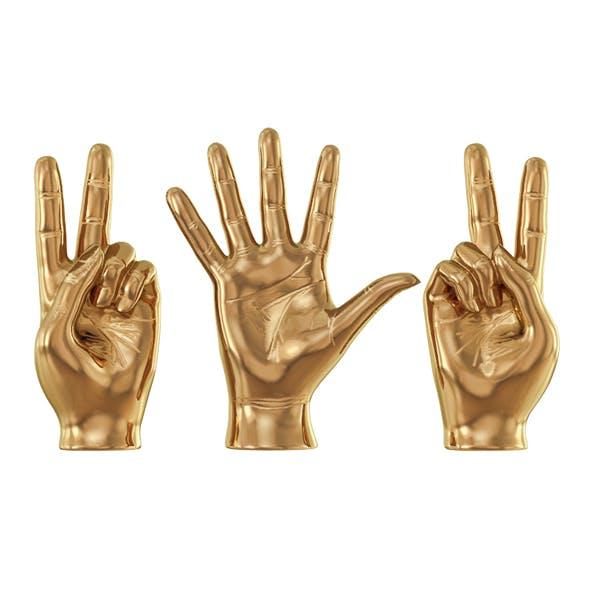 Sculpture Hands Sign - 3DOcean Item for Sale