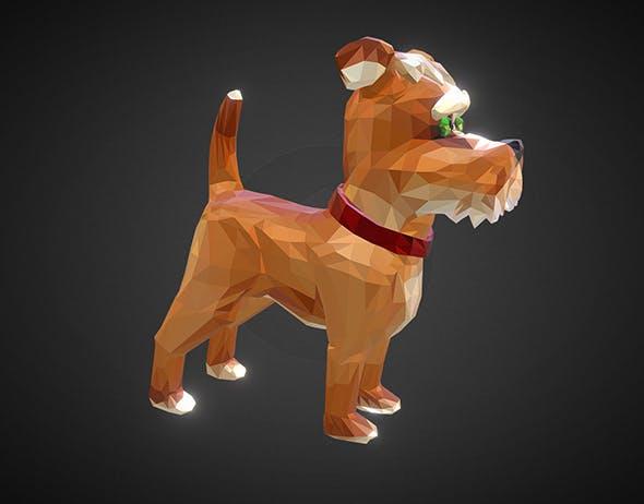 Dog 1 Low Polygon Art Farm Animal - 3DOcean Item for Sale