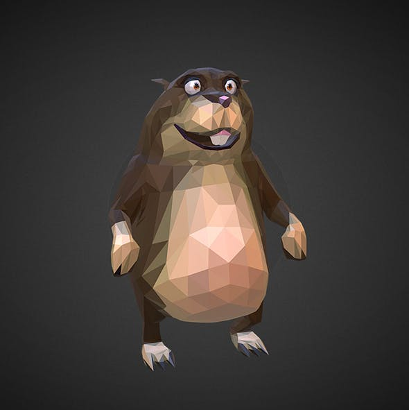 Hamster 2 Low Polygon Art Farm Animal - 3DOcean Item for Sale