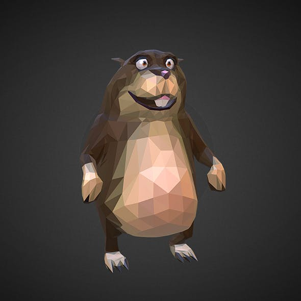 Hamster 2 Low Polygon Art Farm Animal