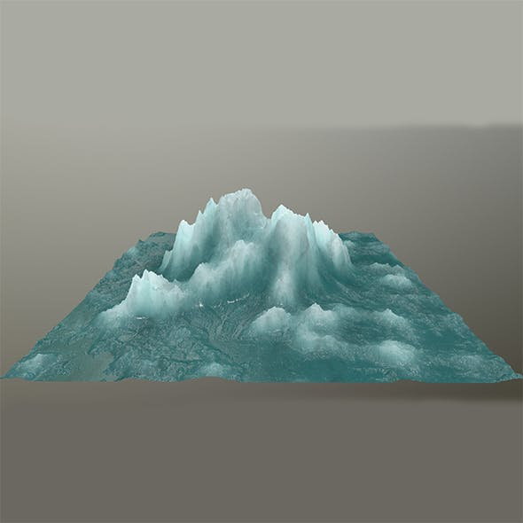 ice mountain 6 - 3DOcean Item for Sale