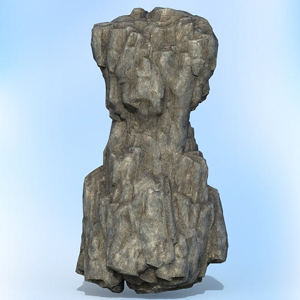 Game Ready Realistic Rock 11 - 3DOcean Item for Sale