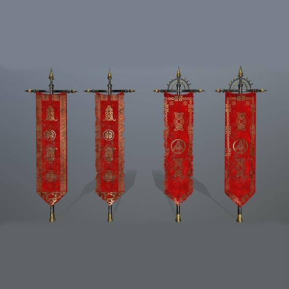 flag set 4 - 3DOcean Item for Sale