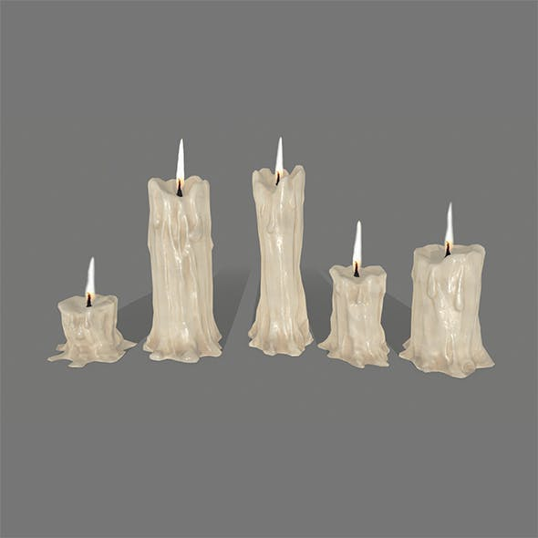candle set - 3DOcean Item for Sale