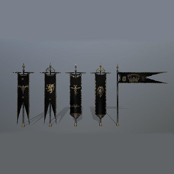 flag set 7 - 3DOcean Item for Sale