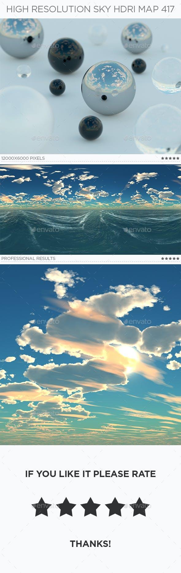 High Resolution Sky HDRi Map 417 - 3DOcean Item for Sale