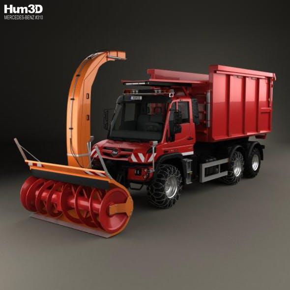 Mercedes-Benz Unimog U530 Paul Snow Plow Truck 2016 - 3DOcean Item for Sale