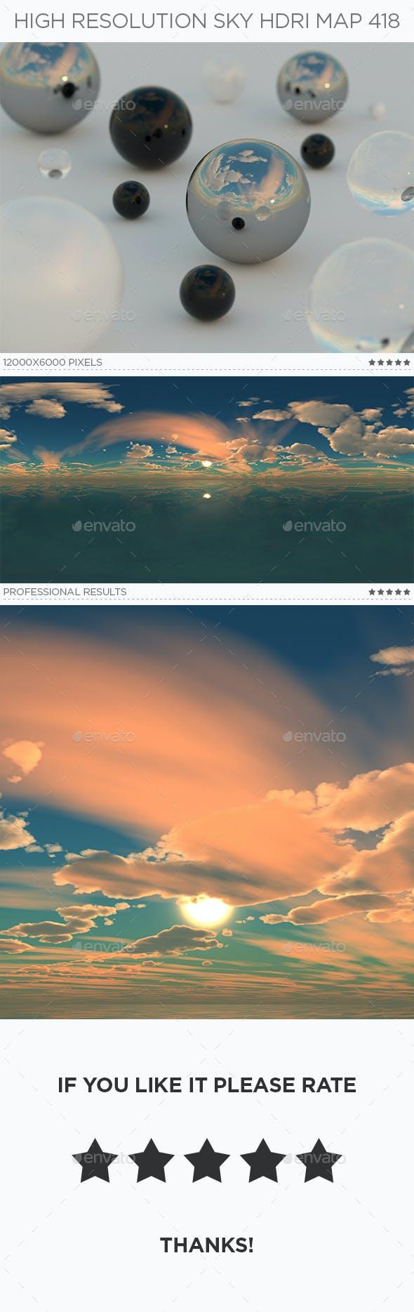 High Resolution Sky HDRi Map 418 - 3DOcean Item for Sale