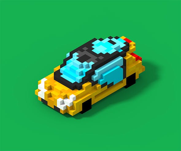 Voxel Fercar - 3DOcean Item for Sale