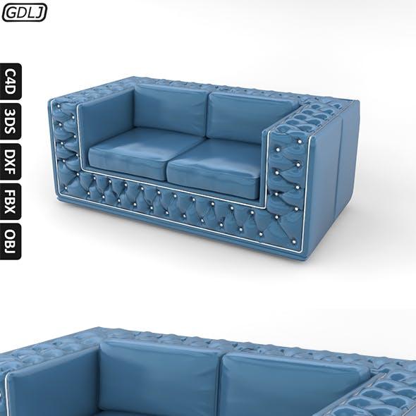 Fashionable leather sofa Blue