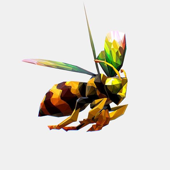 Animated Low Poly Art HoneyBee - 3DOcean Item for Sale