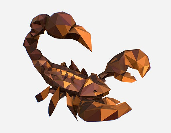 Animated Low Poly Art Brown Scorpion - 3DOcean Item for Sale