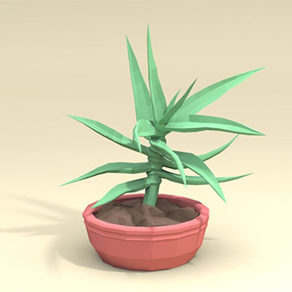 Low-Poly Aloe Plant