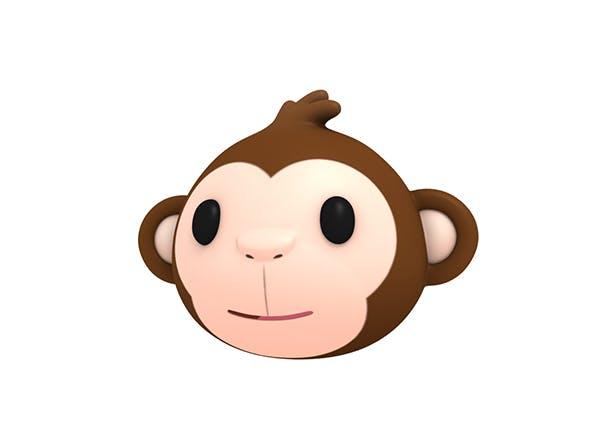 Monkey Head - 3DOcean Item for Sale