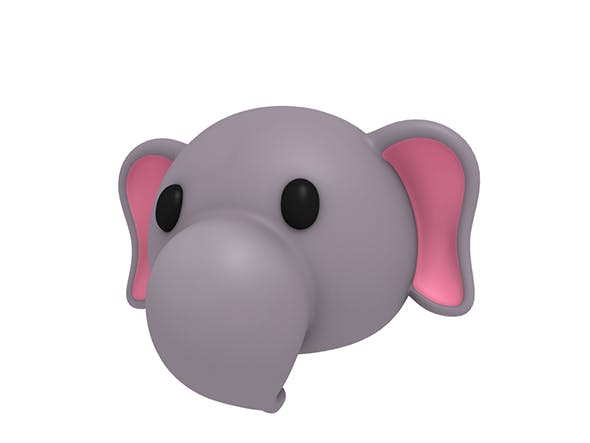 Elephant Head - 3DOcean Item for Sale