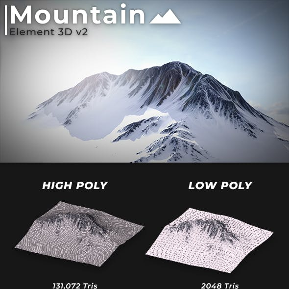Element 3D Mountain Terrain