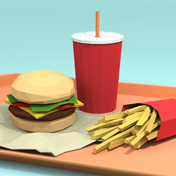 Low-Poly Fast Food