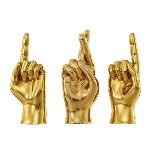 Sculpture Hands Sign 2