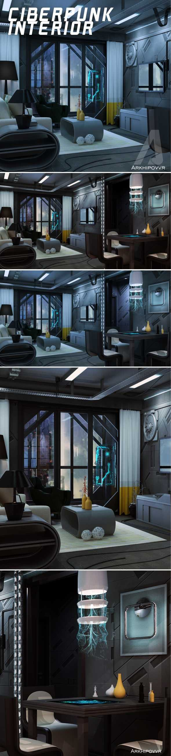 Cyberpunk interior - 3DOcean Item for Sale