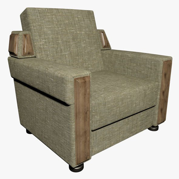 Armchair 01 - 3DOcean Item for Sale