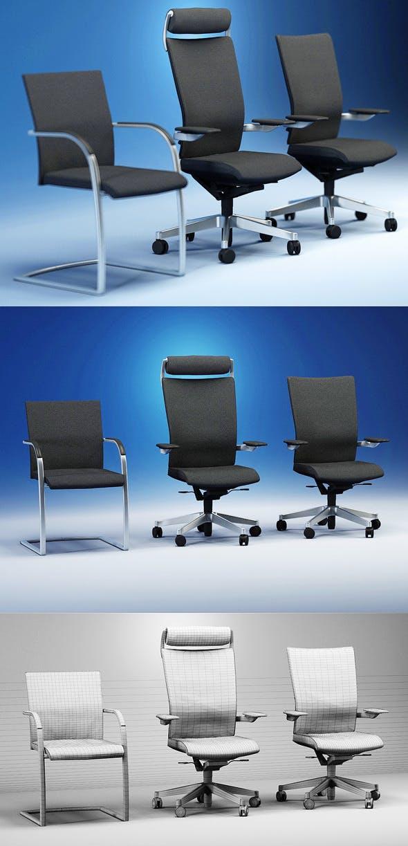 Quality 3dmodel of modern chairs Orbit. Kloeber - 3DOcean Item for Sale