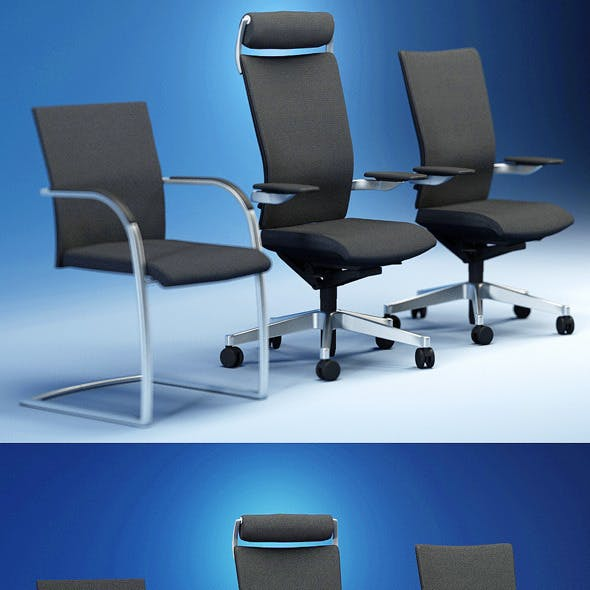 Quality 3dmodel of modern chairs Orbit. Kloeber