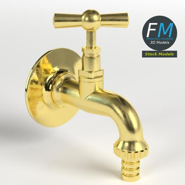 Fountain faucet - 3DOcean Item for Sale