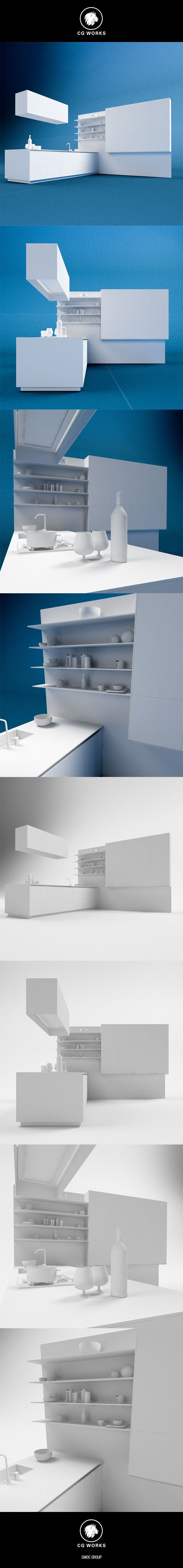 Kitchen C4D & OBJ - 3DOcean Item for Sale