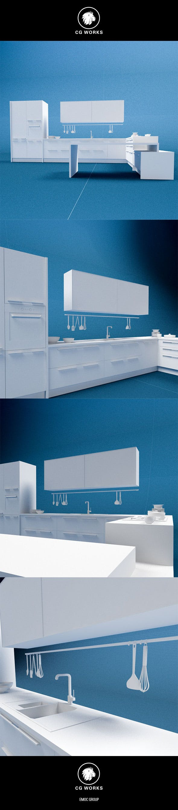 Kitchen C4D & OBJ - 3DOcean Item for Sale