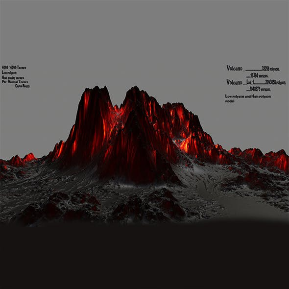 lava mountain - 3DOcean Item for Sale