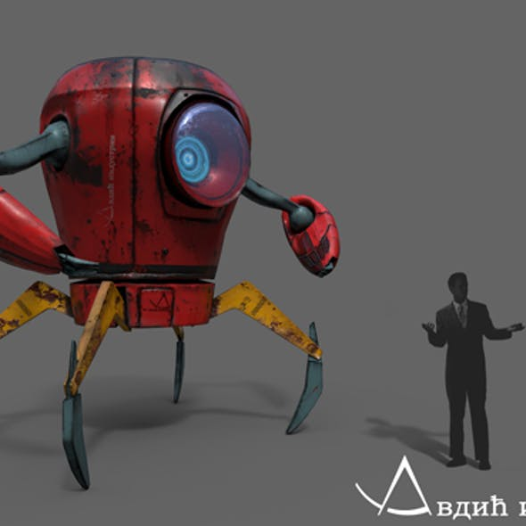 Low Poly / Rig Ready Industrial Robot