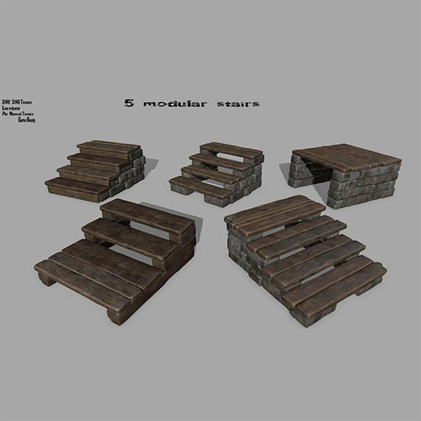 stairs  set - 3DOcean Item for Sale
