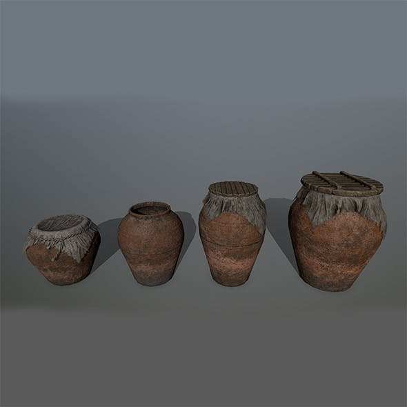 vase set - 3DOcean Item for Sale