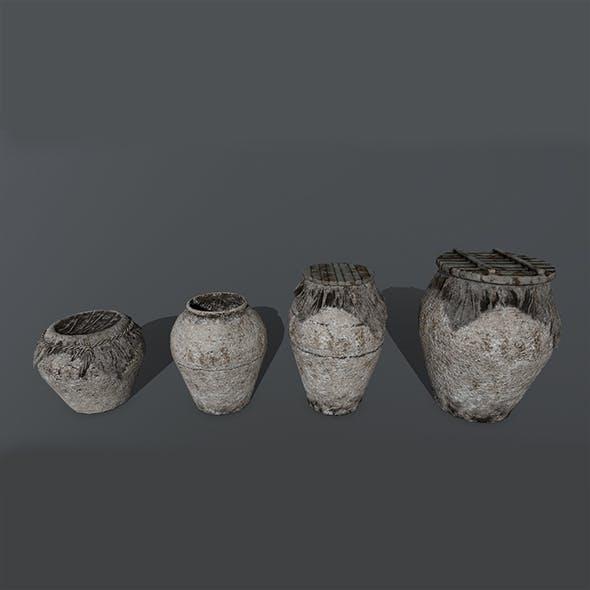 vase set 2 - 3DOcean Item for Sale