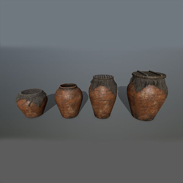 vase set 3 - 3DOcean Item for Sale