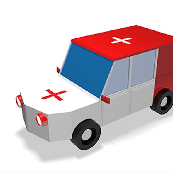 Low Poly Ambulance 3d Model