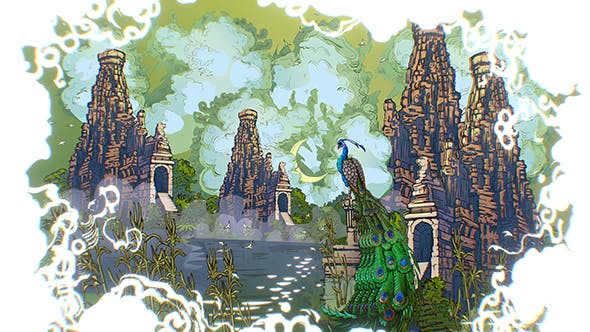 Animated Vector Paralax Landscape Asia Scene - 3DOcean Item for Sale