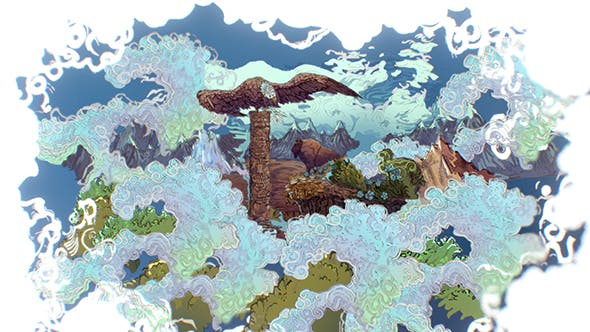 Animated Paralax Landscape USA Scene - 3DOcean Item for Sale
