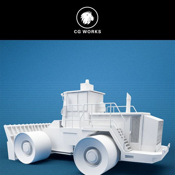 Construction machinery C4D & OBJ II