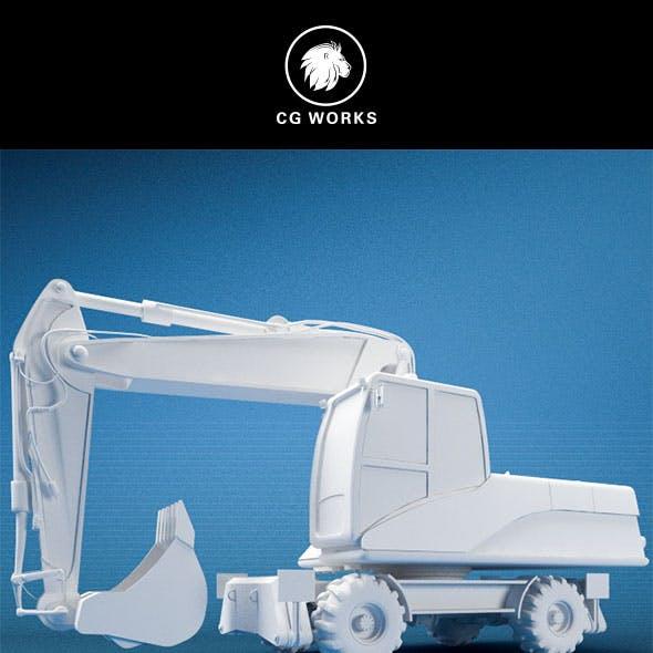 Construction machinery C4D & OBJ III